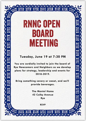 OPEN BOARD MEETING New Date
