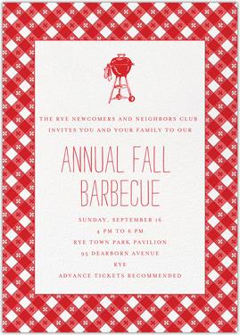 Annual Fall Barbecue